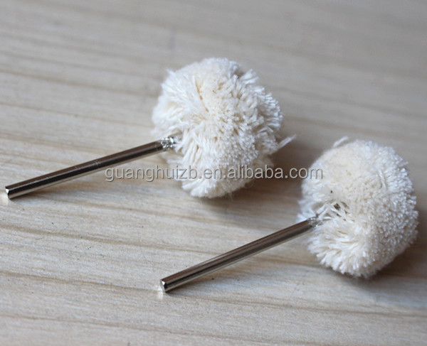 white cotton Wheel Polishing Brushes dremel tools accessories