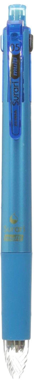 Zebra Multi Function Surari 4+S Black/Red/Blue/Green Ink 0.5mm Ballpoint Pen, 0.5mm Mechanical Pencil, Light Blue Body