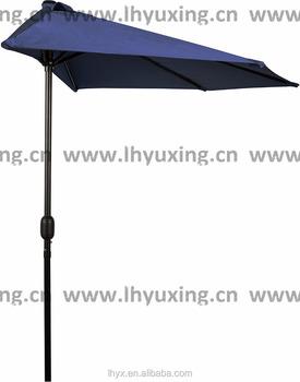 9Feet Patio Half Round Umbrella Bistro Wall Balcony Door Window Sun Shade  270cm Parasol