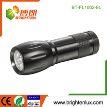 CE ROHS Certification Cheap Small AAA battery Used 9 led Aluminum pocket torch
