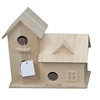 Wooden birdhouse cage