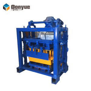 manual concrete hollow block mold QT40-2 small hollow solid brick making machine for sale
