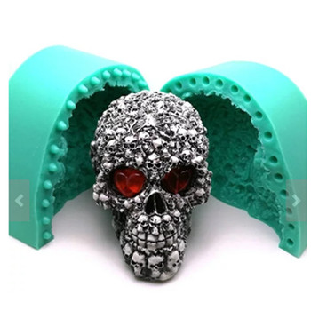 BIG Skeleton silicone Soap molds Gypsum decoration 3D Halloween cake mold resin candle mould