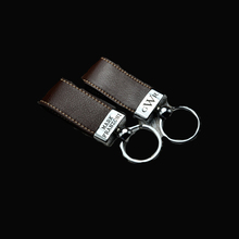 New Personalized Leather Key Chain Custom Men's keyring Gift