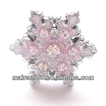 Free Shipping New Arrival Diy Rhinestone Snowflake Slide <strong>Charms</strong> Fashion <strong>Charms</strong>(ZC-021)