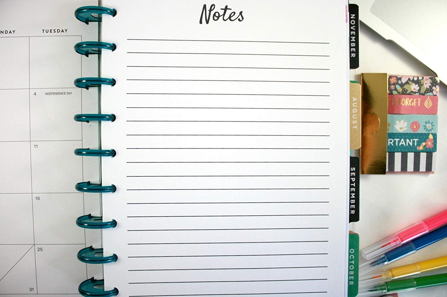 The Classic Happy Planner Refill Pages, Classic Happy Planner Notes Refills, Pre-punched Happy Planner Inserts, Pre-punched Notes Refills