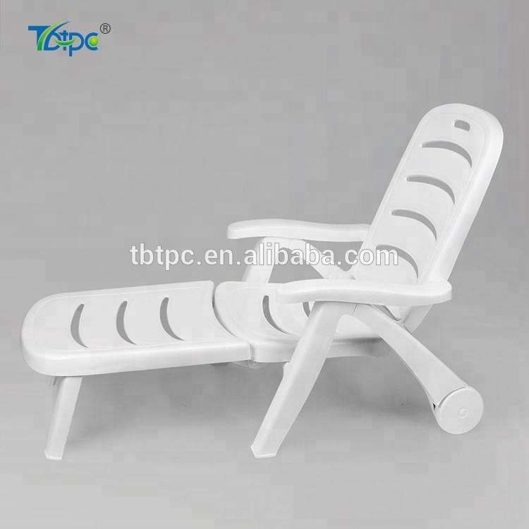 Beach Chair Folding White Strong Plastic