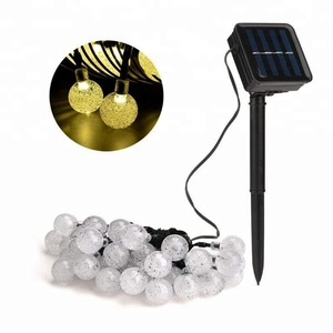 20 Ft 30 Crystal Balls Waterproof LED Fairy Lights, Outdoor Starry Lights, Solar Powered String Lights