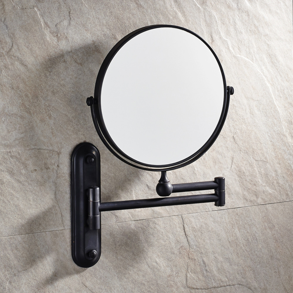 Oiled Bronze Bathroom Mirror: 8 Inch Bathroom Wall Mounted Oil Rubbed Bronze Solid Brass