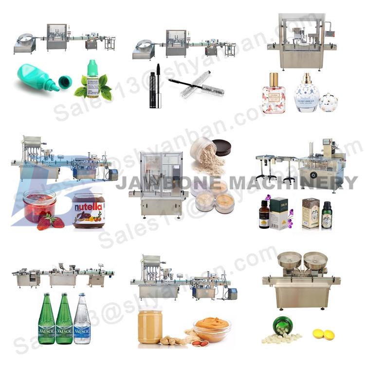 JB-YG4 automatische 200 ml 300 ml 500 ml siroop medische vloeibare vullen en afdekken machine, Automatische Farmaceutische Productie Lijn