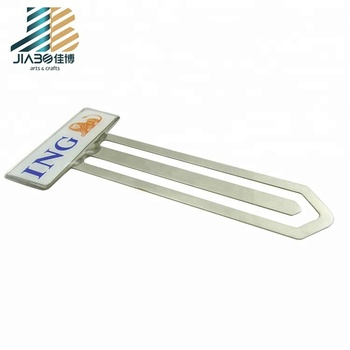 2019 High Quality 3d silver fancy bookmark with logo
