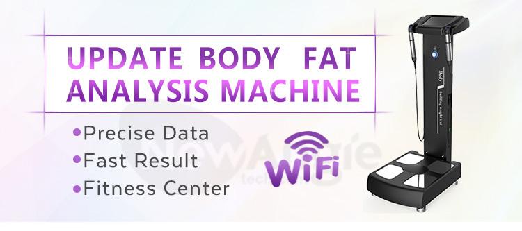 Klinik Tubuh Manusia Analyzer Sistem dengan Ponsel Printer Laporan