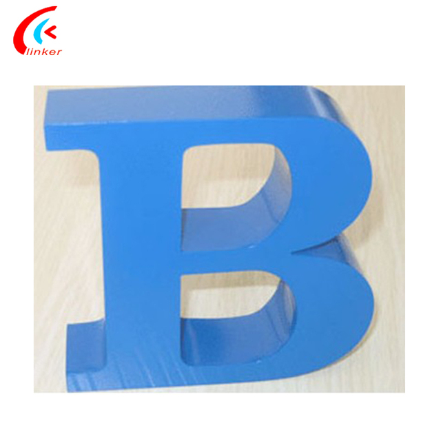 Indoor Advertising Sign Mirror Metal Gold Sign Letters