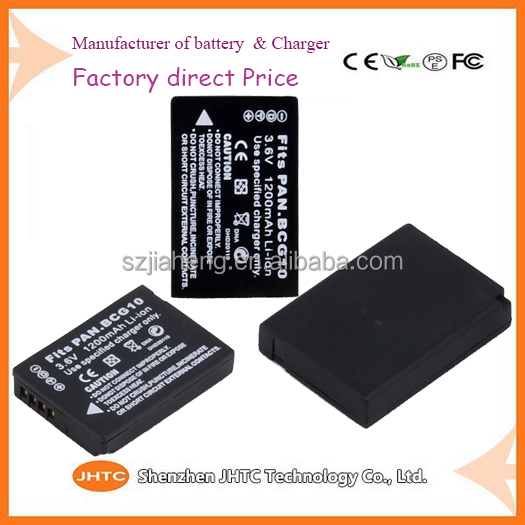 Battery manufacturer/ battery operated outdoor wireless security camera battery BCG10 For Panasonic Digital Camcorder