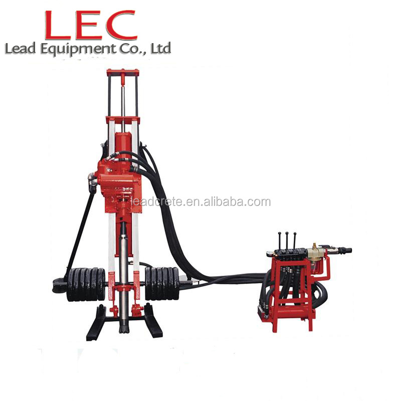 DTH drilling rig bore hole drilling machine