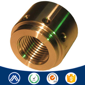Custom cnc machining service turning brass part/thread insert manufacturer