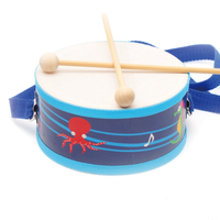 Amazon hot sell musical toy funny mini wooden knock drum for kids