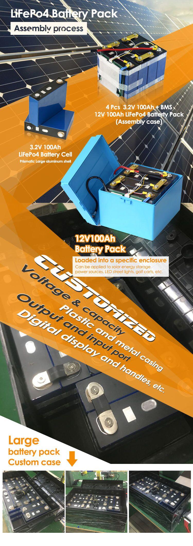 Top quality singola batteria lifepo4 3.2 v 100ah