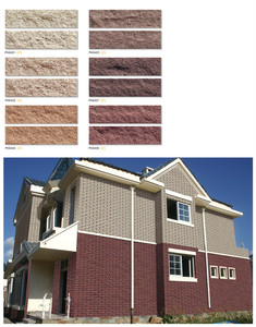 60x240 exterior wall stone red clay brick clinker tile