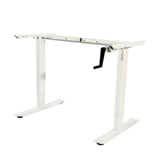 China factory hand crank adjustable height office lift desk in office  furniture