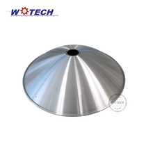 CNC spinning aluminum lampshade for high bay light reflector