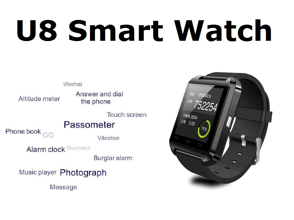 Bluetooth Watch U8 For IOS IPhone 4/5S/6 Samsung S4/Note 3 HTC Android /IOS  Phone Smart watch GT08 DZ09 A1 W8, View cheapest smart watch, OEM Product