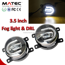 Universal 12V white Fog lamp with DRL daytime running light mark x fog light