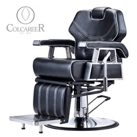 Global Suppliers Beauty Shop Black Barber And Salon Chairs Prices Luxury Barber Chairs Container Barbershop Furniture For Sale