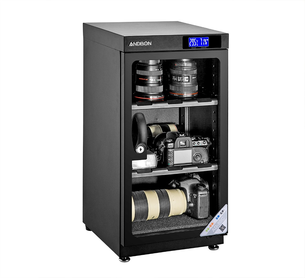 50l lcd digital display dehumidity dry cabinet for lens camera