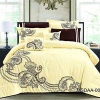 kosmos home textile factory wholesale microfiber embroidered comforter set