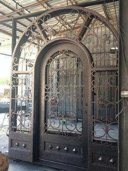 Arched Top Interior Doors/ Wrought Iron Main Door Designs Church Door/  China Manufacturer