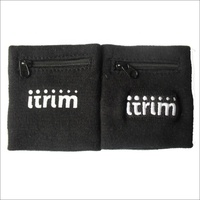 newest hot sell Promotional Gift custom sports cotton toweling wrist sweatband with zipper