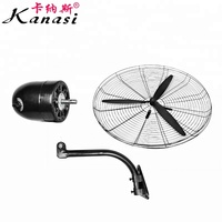 "20 26 30 "" Inch 500 650 750 mm OEM ODM Industrial Oscillating Metal Wall Mounted Industrial Cooling Fan"