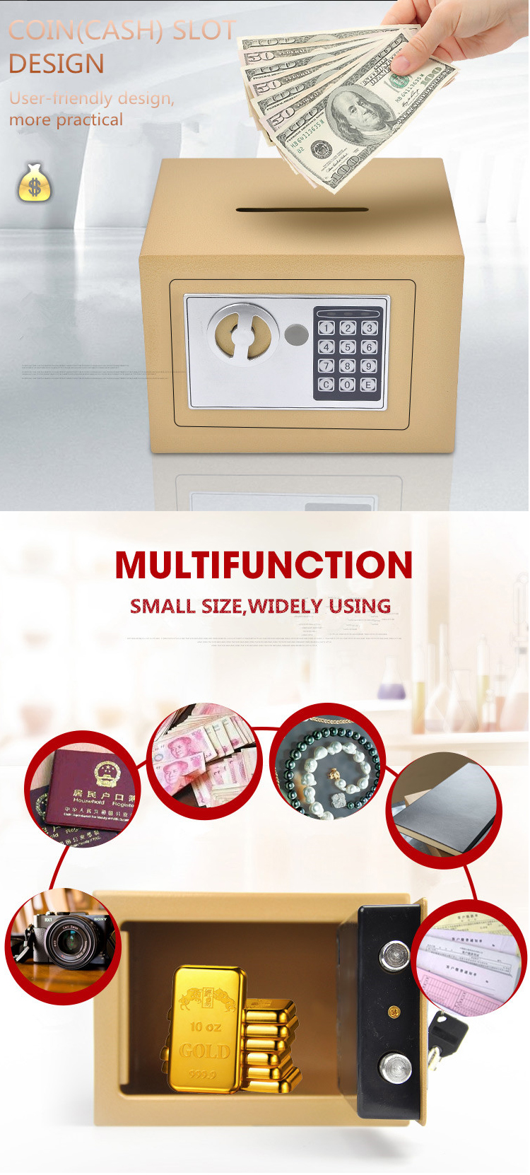 china safe lock hotel room all steel electronic digital combination lock mini safe deposit box cabinet