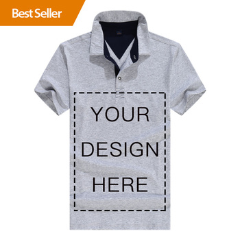 New Design Clothing Tshirt Logo Custom T-Shirt Long Sleeve 100% Pima Cotton Blank Polo Shirt men