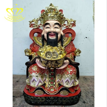 Custom Buddhism Decor Gift Gold Plated Epoxy Resin New Product Buddha Statue Figurine