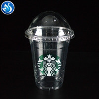 Transparent plastic cup disposable PET cold drink plastic cup