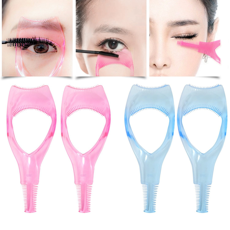 680fe2cc0c1 Get Quotations · Honbay 4PCS 3 in 1 Transparent Plastic Eyelashes Tool  Mascara Applicator Eyelashes Guide Eyelashes Comb Makeup
