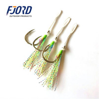 FJORD Hot Sale Top Quality 8062-5X-NP Fishing Jigging Hook With Luminous Tie Wire