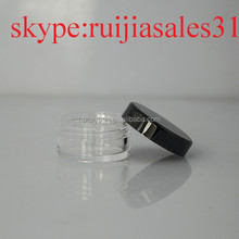 5ml Clear plastic pot / jar / tub / container cosmetic / nail art / samples