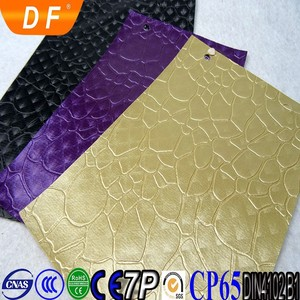 map design pvc leather cheap price from China