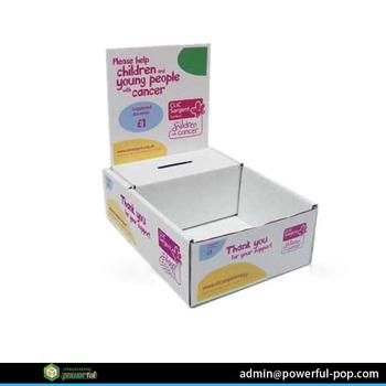 manufacture charity donation box cardboard corrugated counter