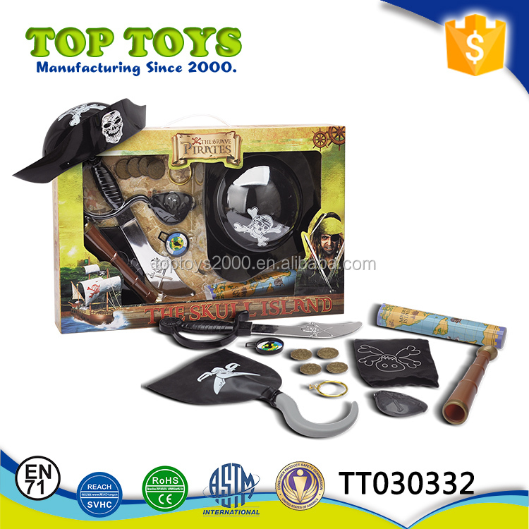 Hot sale 13 pcs Funny kids pirate play set toys