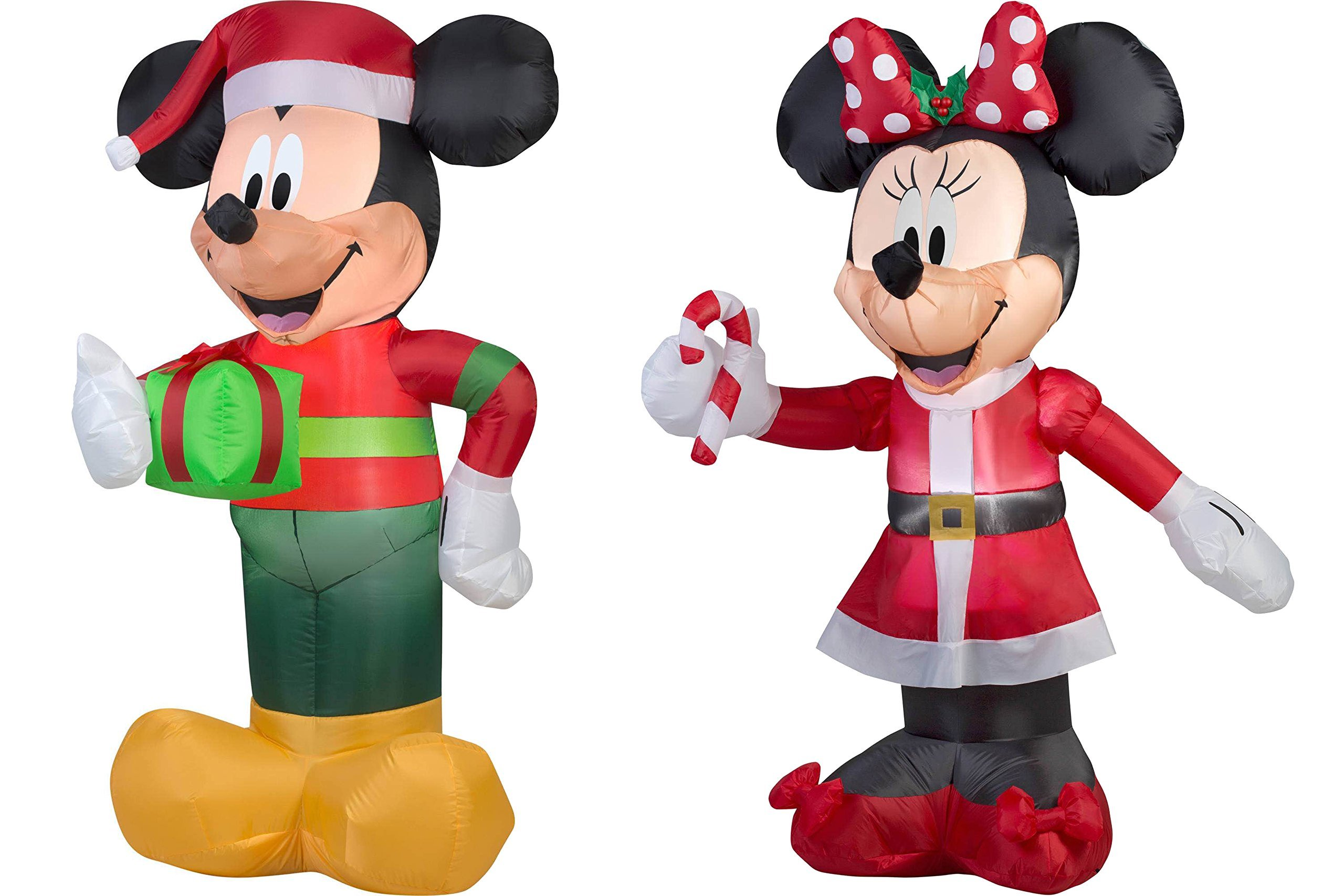 get quotations 5 feet tall airblown self inflatable mickey and minnie mouse with energy efficient led inflatable