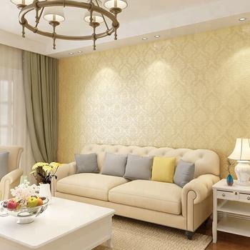 Pvc Hiasan Timbul Dinding Tekstur Kertas Wallpaper Emas Untuk Dekorasi Ruang Tamu Bertekstur Moderen