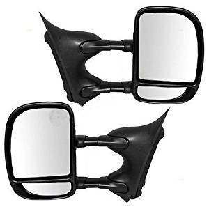 99-07 Ford Super Duty Truck Towing Manual Side View Mirror Left & Right Pair Set (YH3339-MB)