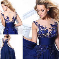 Chic stylish royal blue evening dresses 2016 prom dresses custom Made