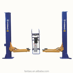 3T 2M manual two side release two post lift car hoist auto elevator vehicle lifter with CE Shanghai Fanbao QJY3.0-E