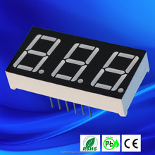 Red 0.56 inch 3-digit 7 segment led numeric displays