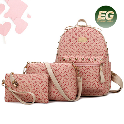 Summer Set backpack brand designer bag 3 pcs in 1 bag set fashion shinny color handbag SY8239